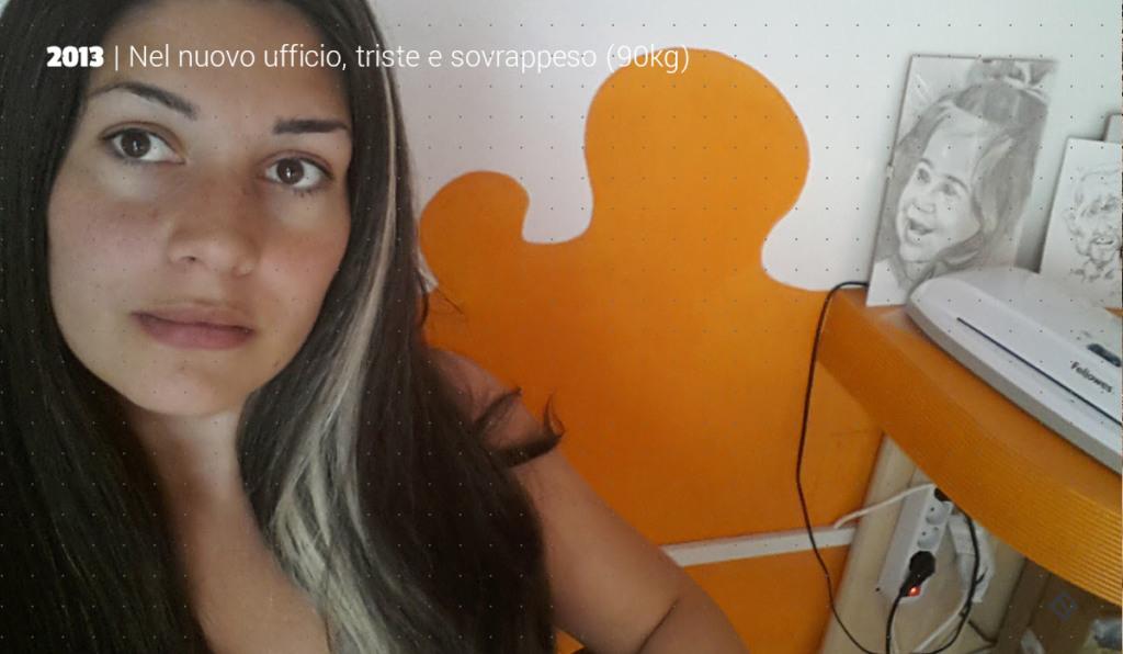Triste e grassa nel nuovo ufficio